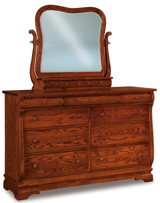 Chippewa Sleigh Swinging Mirror with 3 Drawers