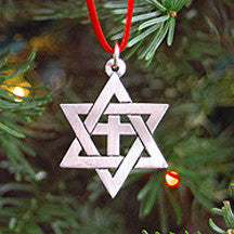 Star of David Christmas Ornament