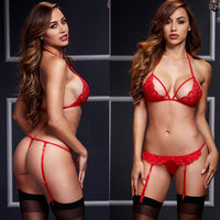 ItspleaZure Red Women Sexy Lingerie Lace Babydoll With G-String