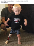 AMPUTEE LIFE®  chAMPion LIFE KIDS T-SHIRT BLACK & RED - Amputee Life® Clothing