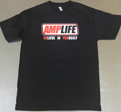 AMPLIFE™ BELIEVE IN YOURSELF Black T-Shirt - Amputee Life® Clothing