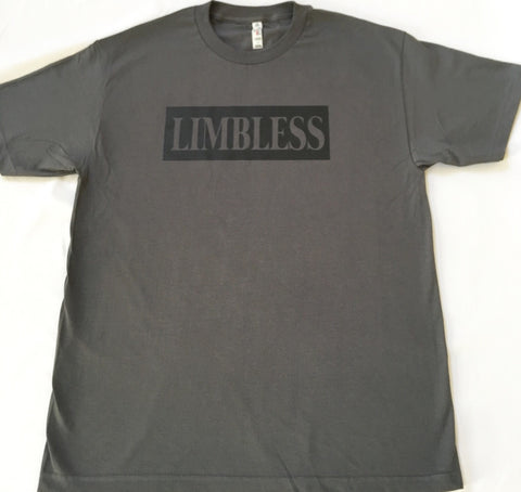 LIMBLESS. WE DO IT BETTER Grey T-Shirt with Black