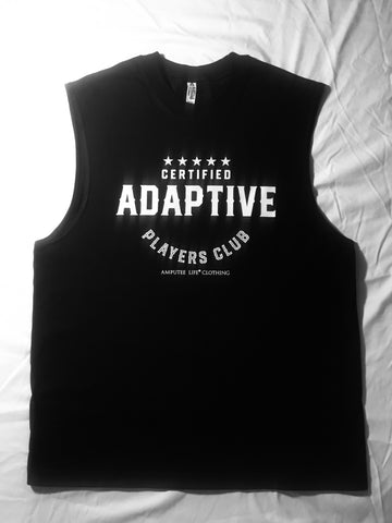 Certified Adaptive Players Club Black Sleeveless T-Shirt