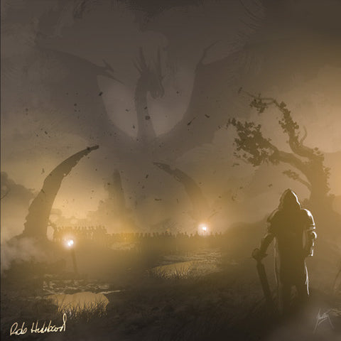 """Lair of the Dragon"" Art Canvas by Trevor Storey (Rob Hubbard Signature Editon)"