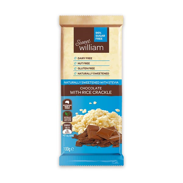 Chocolate With Rice Crackle 96% Sugar Free (100g)