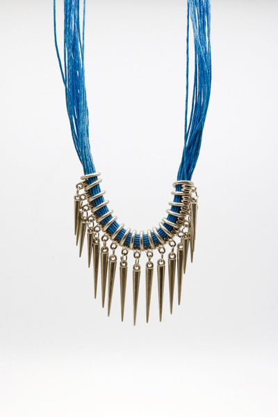 Necklace - Carroll Blue Necklace