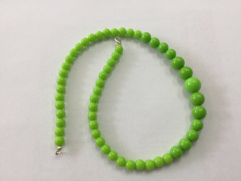 Lime Green Gumball Bead Necklace