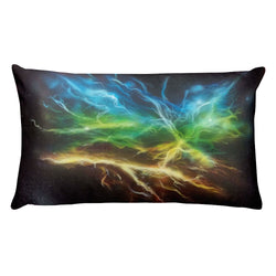 Rainbow Lightning Pillow