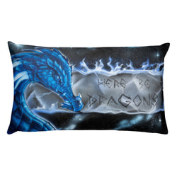 Here Be Dragons Pillow
