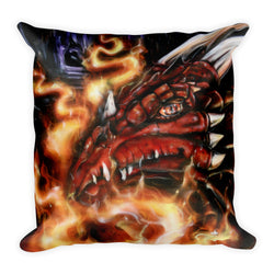 Red Hot Dragon Pillow