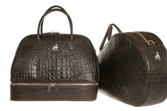Tennis Racket Bag Brown Alligator