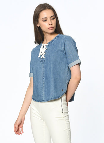 Only Denim Top Sz: S
