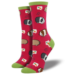 Guinea Pig Socks - Pink/Green - Everything Guinea Pig