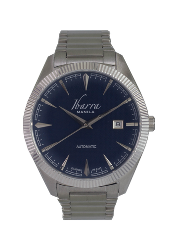 RIZAL 40MM AUTOMATIC STEEL WATCH (BLUE DIAL)