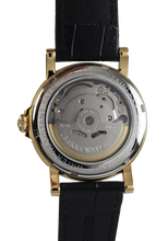 Load image into Gallery viewer, PLARIDEL 38MM AUTOMATIC GOLD DRESS WATCH (BLACK STRAP)
