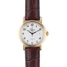 Load image into Gallery viewer, PLARIDEL 38MM AUTOMATIC GOLD DRESS WATCH (BROWN STRAP)