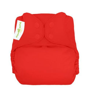 bumGenius Freetime All in One Cloth Diaper, shown in solid color kiss coral, made in the usa
