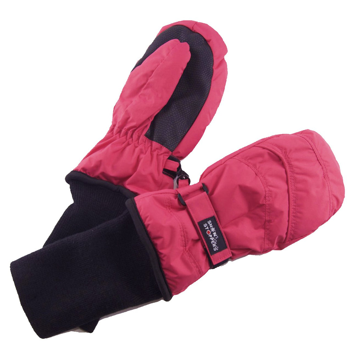 Stay-On mittens, size small - X-large in the color black