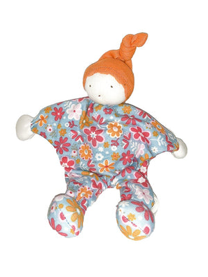 Girl option for an Under the Nile Scrappy Baby Buddy Doll, floral print