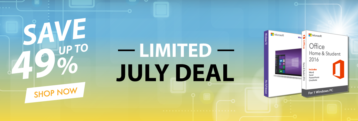 July Limited Deals 2019 Header