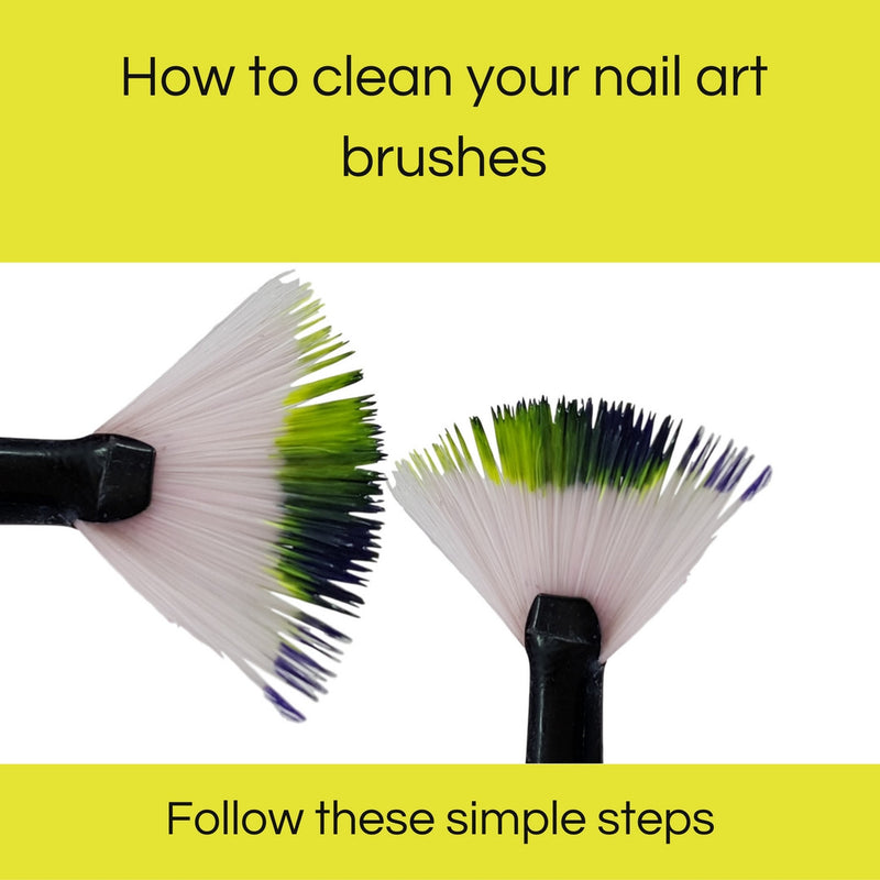 How to clean your nail art brushes?