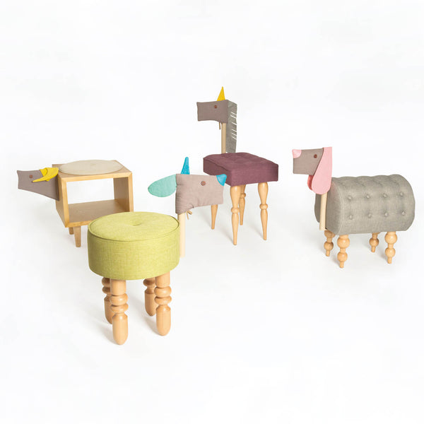Animal chairs color  - Lamb 小羊椅