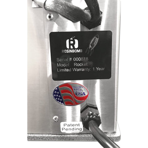 Image of RosinBomb Rocket Small Electric Rosin Press