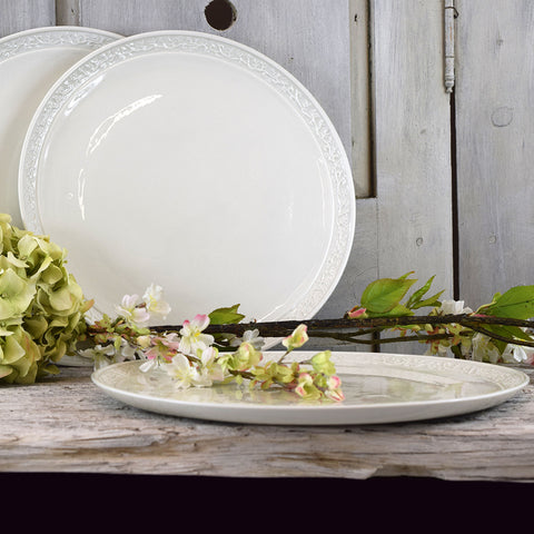 Handmade French Decorative Dinner Plates.