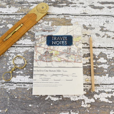 Vintage Map Notepads. Greenwich