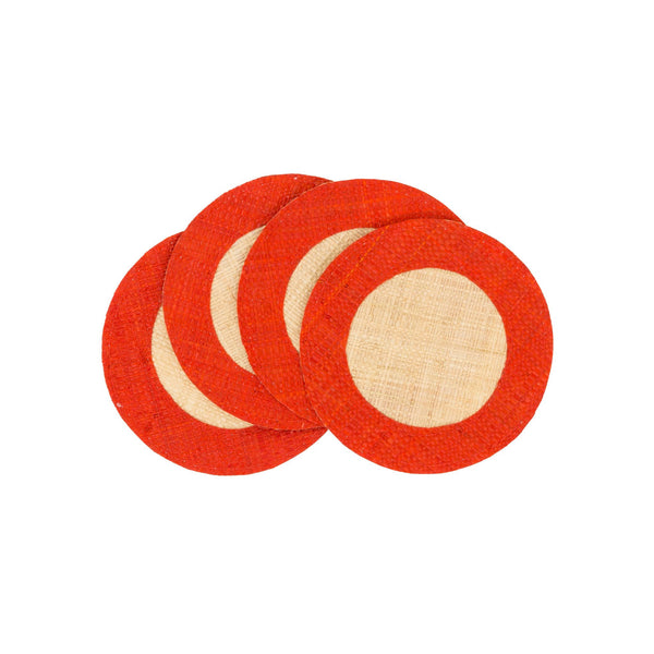 The Raffia Coaster Set of 4 by Pomegranate