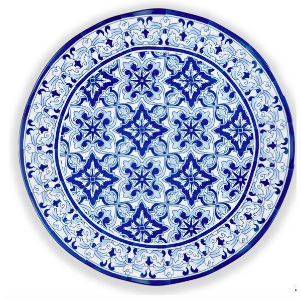 Talavera Round Blue Serving Platter by QSquared