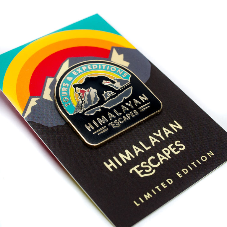 Himalayan Escapes, Roller Coaster Inspired Pin Backing