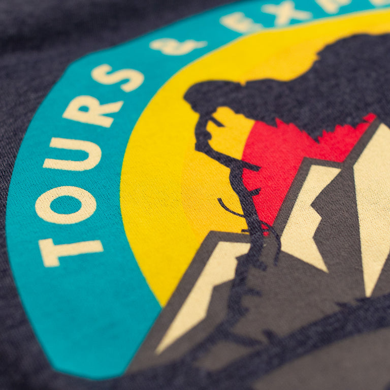 Himalayan Escapes Roller Coaster T-shirt | Detail