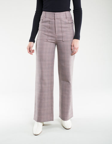 Ganni Suiting Pants Silver Pink