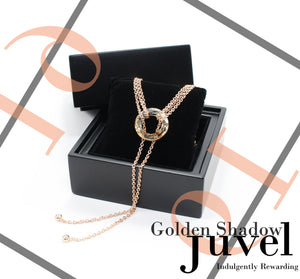 Juvel Gatsby Golden Shadow Necklace (19K Pink Gold Plated)
