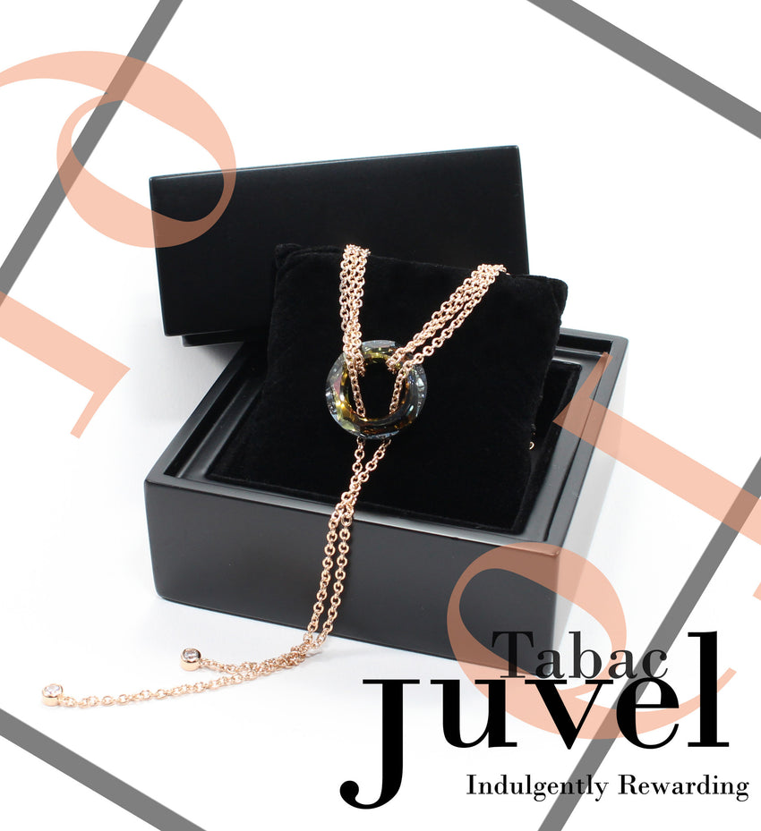 Juvel Gatsby Tabac Necklace (19K Pink Gold Plated)