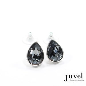 Juvel Black Diamond Teardrop Earrings