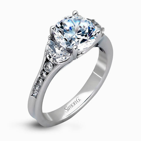 Simon G MR2310 Round Moon Cust and Channel diamond ring