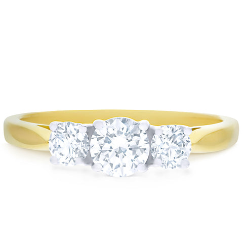 FOREVERMARK™ THREE STONE DIAMOND RING
