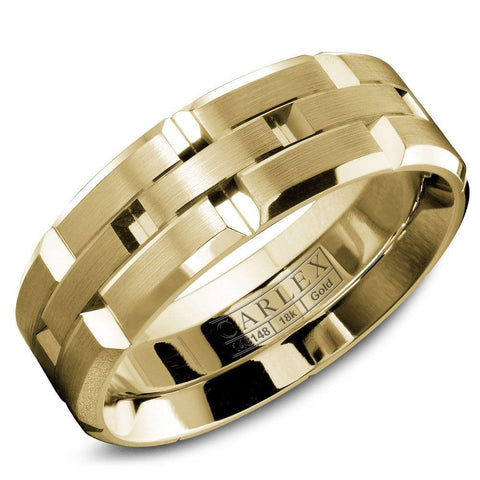 CARLEX Men's Luxury 18k yellow gold ring WB-9146YY