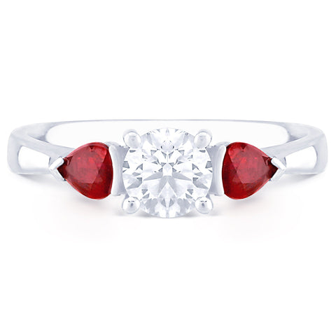 French Riviera with Pear Cut Rubies