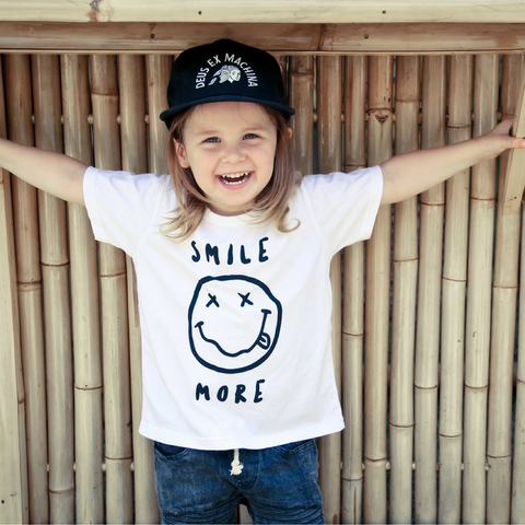 Brave & Fearless - Yo Smile White Wash Tee - Groms HQ