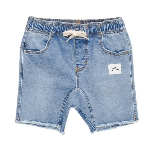 Rusty Tots Baller Elastic Denim Short - Groms HQ