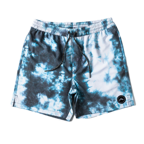 Rusty Boys Blotter Elastic Boardshort - Machine Blue - Groms HQ