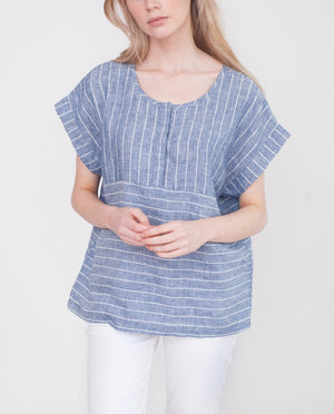 FIONA Linen Striped Top