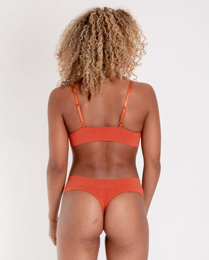LINDA Organic Cotton Thong In Madder