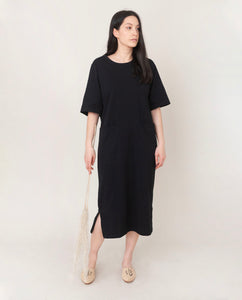 LILLIAN Organic Cotton Dress In Black