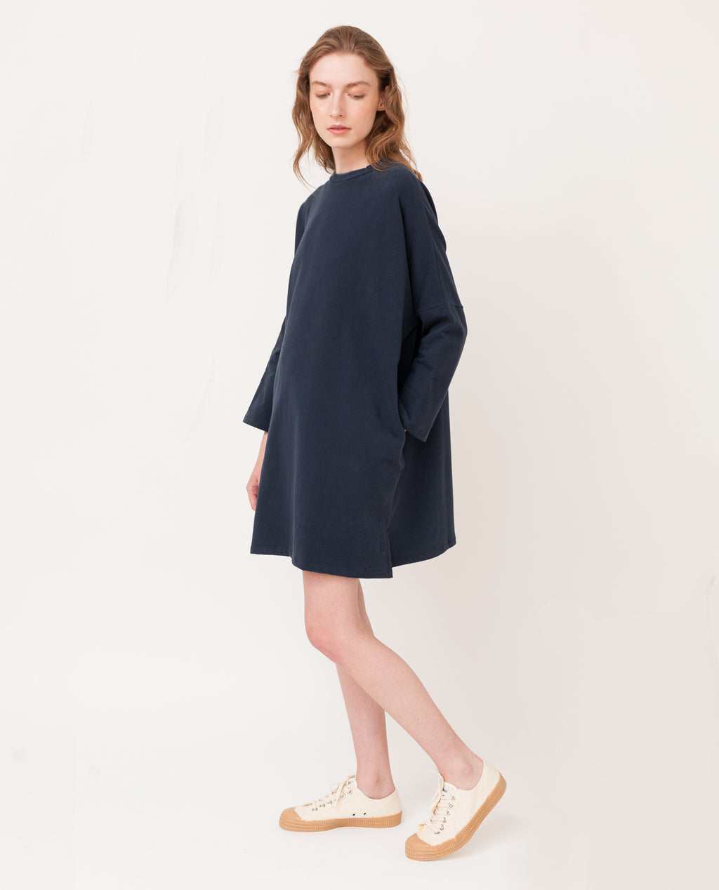SARASI Organic Cotton Dress In Navy