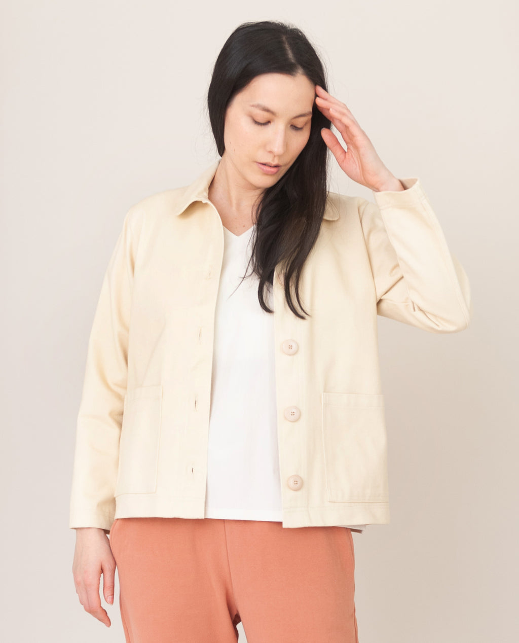 SHARON-DEE Cotton Jacket in Ivory