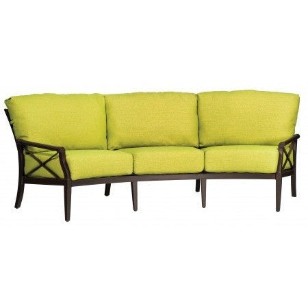 Andover Cushion Crescent Sofa, Outdoor Furniture, Woodard - Danny Vegh's